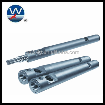 Bimetallic Cylinder parallel Twin alloy screw Professional Parallel twin screw barrel for pvc extrusion line