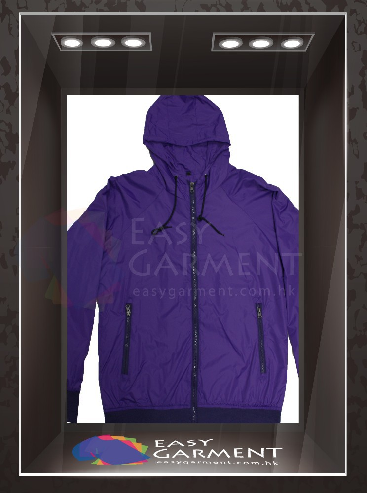 OEM Design Hot sales outdoor waterproof zip Logo Purple printing Women sport Jacket