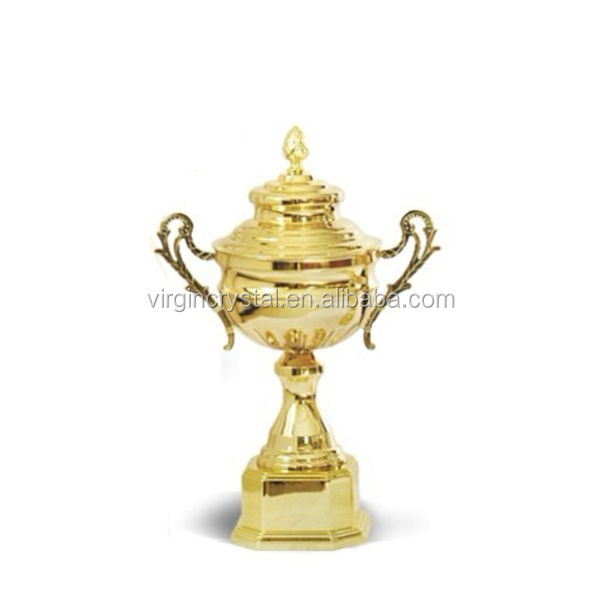 Classical gold plating metal trophy running trophy