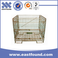 Storage recycling zinc industrial wire steel pallet basket stacking container