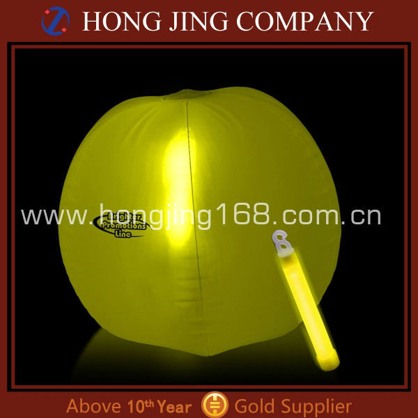 Promotional glow beach ball