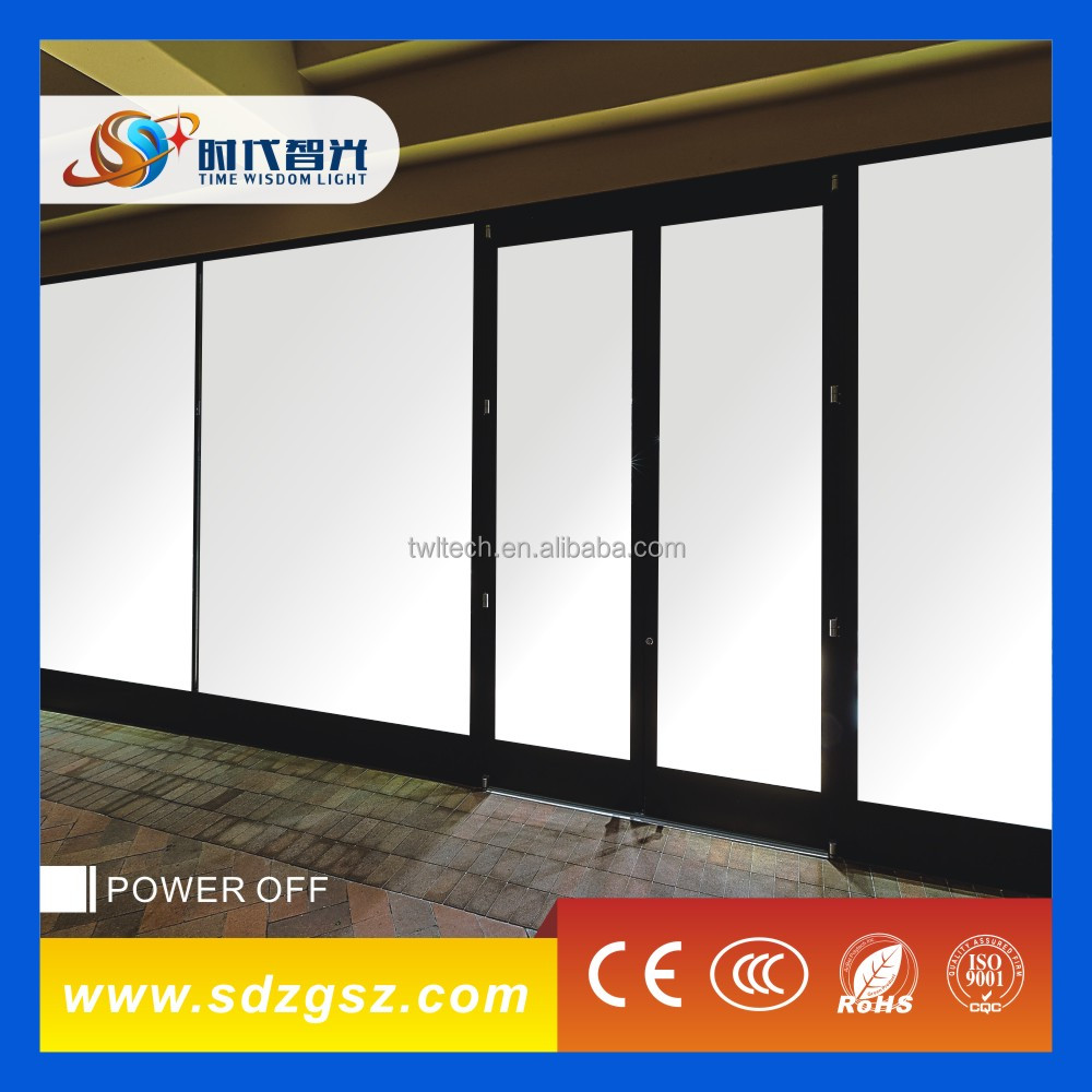 CE Approval Switchable smart glass of window shop, smart glass for car