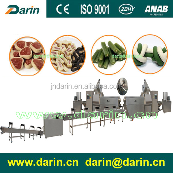 Chewing Puppy Dog Food Extruder Machine for Corn Starch , Meat Powder