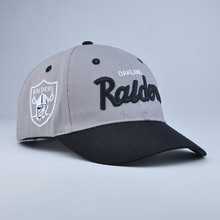 grey stripe cotton fabric baseball cap