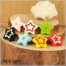 two colors star food grade resin cabochon for making decoration RES-1201 natural casting resin