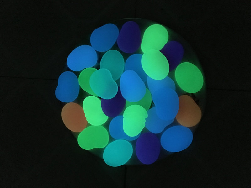 Aqua glow flat pebble stones for home and garden decoration