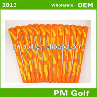 Orange/red Rubber Golf Grips