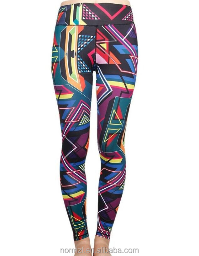 2016 Fashion Design Quick-Dry Leggings Seamless yoga pants Printed Workout tights