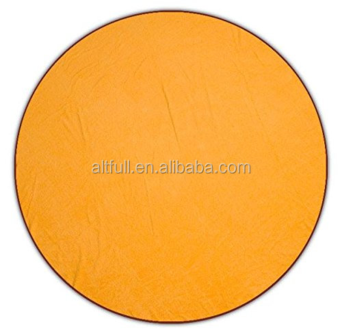 The Circle Towel, 6 Foot Oversized Beach & Picnic Towel, (Tropical Orange)