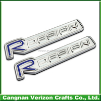 Customized 3d plastic Chrome auto emblem car logo and car abs badges