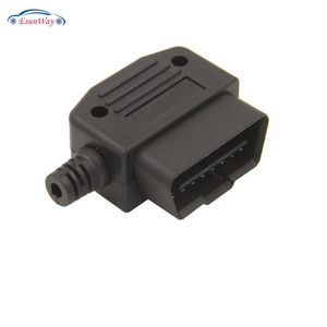 Right Angle 90 Degree J1962 OBD2 Enclosure OBD2 Male Connector OBD2 Socket Right Angle OBD Cover