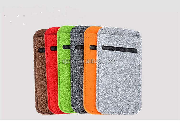 Simple colorful felt mobile phone cover/mobile phone bag