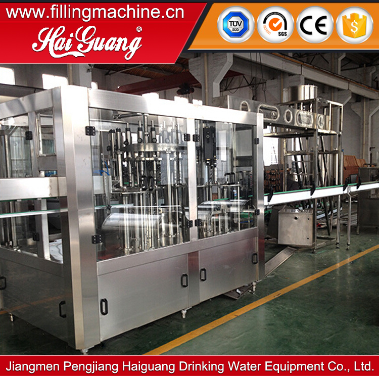 The lowest price barred water washing filling capping production line/water filling monoblock
