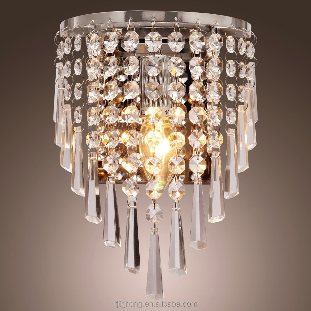 k9 crystal beaded high quality wall mounted decorative lighting indoor chandelier wall lights modern