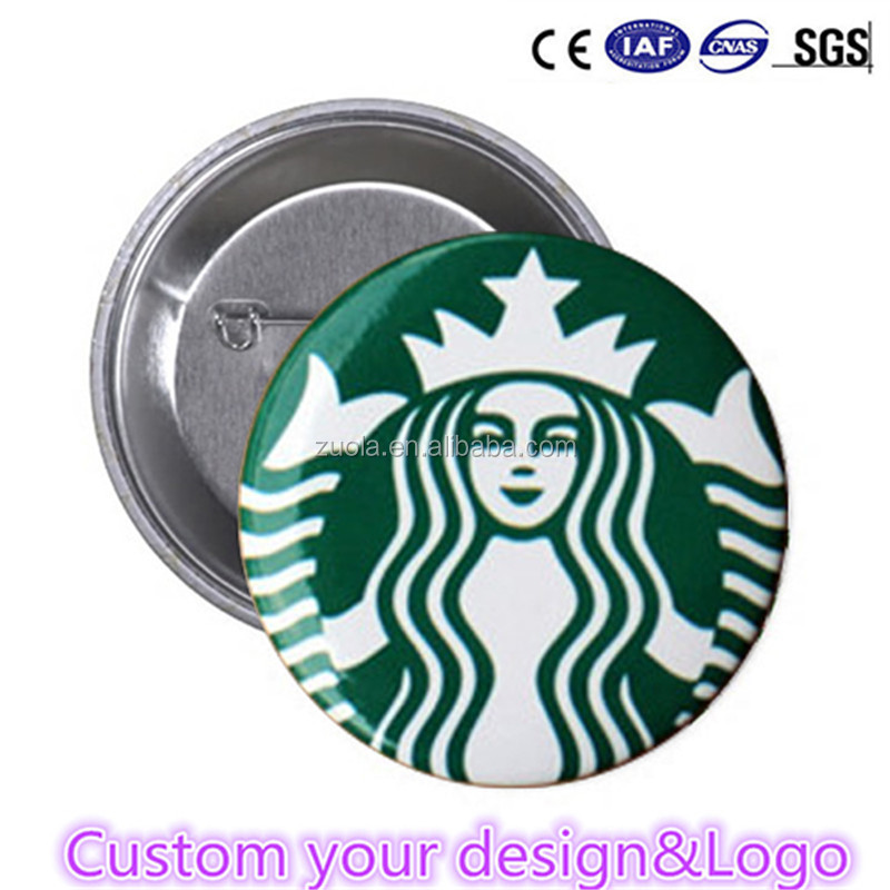 Custom tin badge buttons cheap advertising badge custom logo
