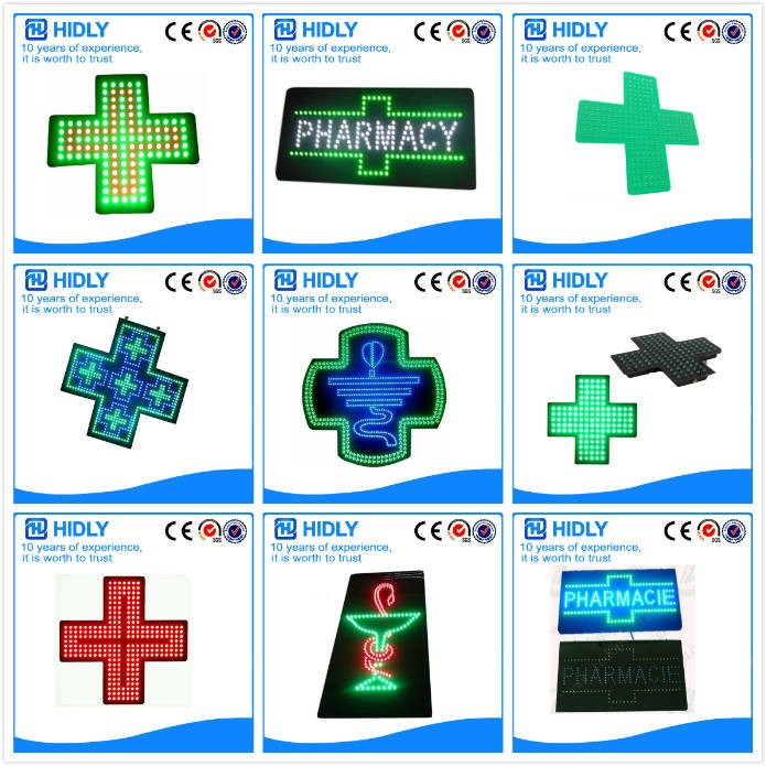 full color wifi programmable led pharmacy cross sign
