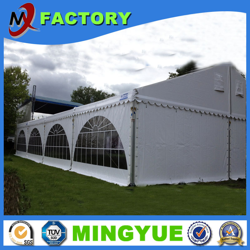 Outdoor steel frame air conditioned tents 12x20m for wedding party catering