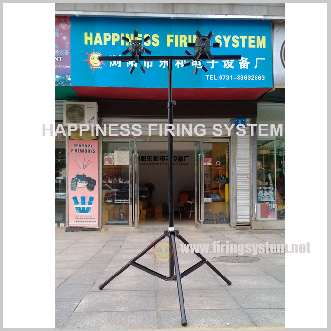 Happiness new product factory price 200m wireless remote control double wheels fountains fireworks firing system