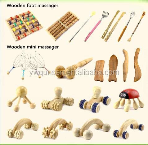QS brand OEM personalized soft Bristle Girls wooden bodybath brush