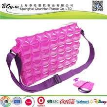 ITS testing factory safety OEM plastic lady shopping bubble pvc inflatable hand bag