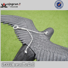High Quality Hard Plastic Full body Black Flying Crow Decoys Crow with Wings for Hunting
