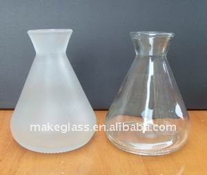 frosted&clear glass vase