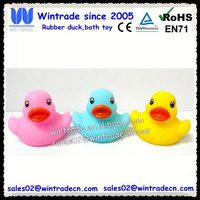 Spring color duck type pvc bath toy for kids