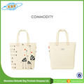 China Manufacturer Beautiful Cotton Canvas Tote Bag For Women