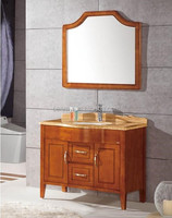 New design modern wood marble top bathroom cabinet