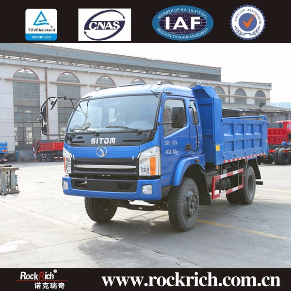 China Sitom supplier 10 ton 6 wheel tipper truck with dump bed