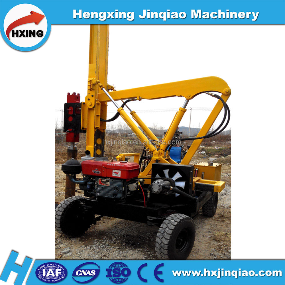 small highway pile driving machine for pulling and extracting