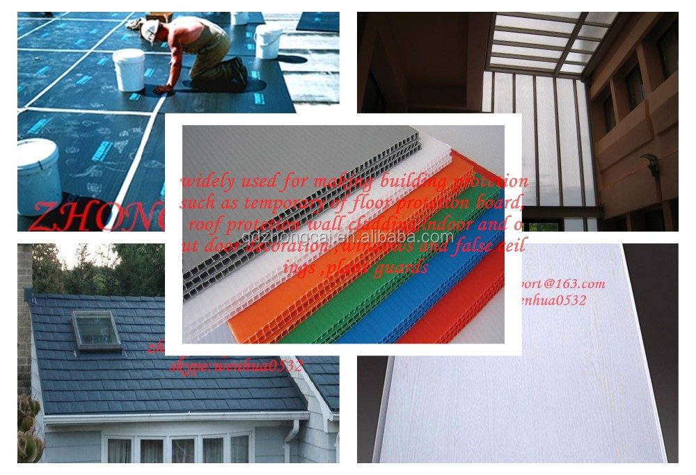 high quality best price plastic roofing sheet / Building PP corrugated floor covering / temporary floor covers