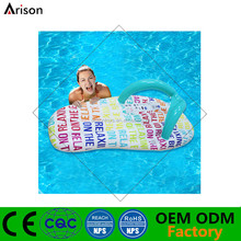 PVC inflatable high quality thong shaped floating mattress inflatable slipper shaped water mattress for swim toys