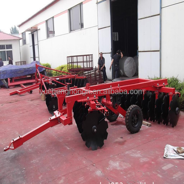 farm equipment tractor used hydraulic heavy duty offset disc harrow