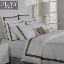 ELIYA factory made embroidery linen hotel bed sheets set fitted sheet