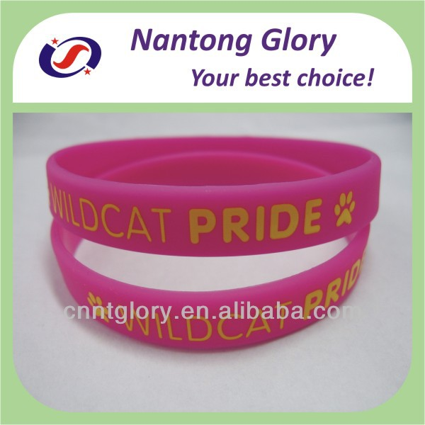 custom printed dog paw cheap silicone wristband