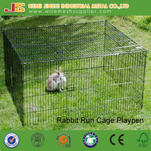 Black Coloured Metal Small Animal Playpen Rabbit Cage