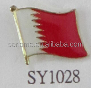 Low Price Bahrain Flag Badge From Producer