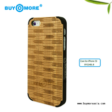 wooden cases tpu pc bamboo combo case for iphone 5s