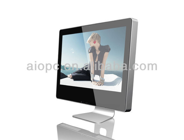 18.5 inch lcd touch monitor PC aio with base i3 cpu with touch screen