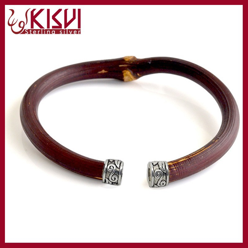 china tibet natural Rattan 925 sterling silver thai silver Jewelry Bracelet kisvi silver factory