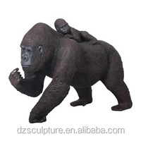 Latest product bronze plush chubby gorilla statues for sale