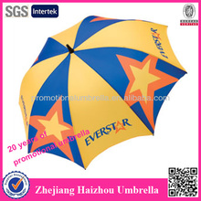 Five-pointed star ad standard umbrella size
