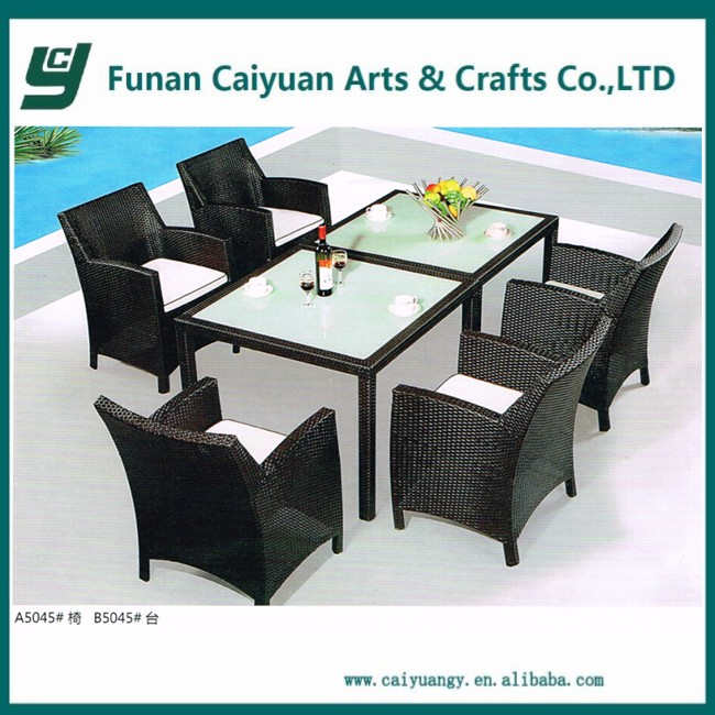 Rattan compact philippine dining table set
