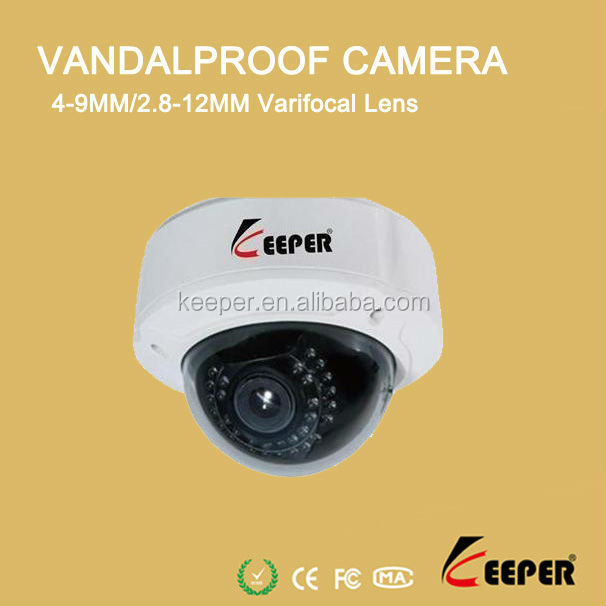 keeper brand 700tvl 25M IR distance Excellent Day & Night Picture vandalproof dome camera