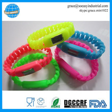 hot sale twisted braided band silicone watch