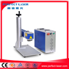 China machinery 10w 20W 30w portable mini metal jewelry ring iphone fiber color laser marking machine