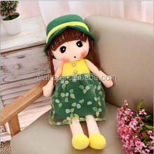 wholesale cute design lovely girl stuffed baby toy doll