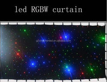 pro stage decorations led star cloth 2m*3m size led twinkle star rgbw backdrop cloth light