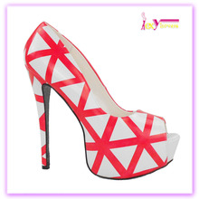 European style new arrival china wholesale cheap price red women shoes pumps summer platform ladies 16cm high heel shoes